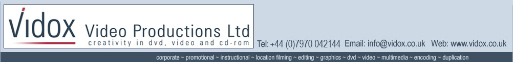 Corporate Video Production Kent  - Vidox Video Production Ltd